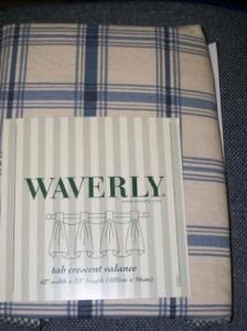 Waverly Pantry Plaid Panel or Valance or Balloon Shade