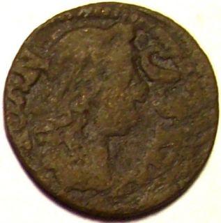 Polish Solidus Coin King John II Casimir w/ Bust Facing Right & Eagle