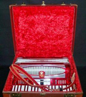 Vintage Castiglione Detroit Accordion w/Case NR