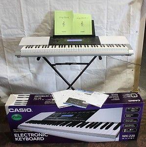 CASIO WK220 76 KEY ELECTRONIC KEYBOARD PIANO ORGAN BUTTON 8294