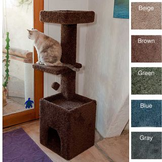 New Cat Condos 4 5 Foot Cat Tower Scratching Posts House Blue 13902392