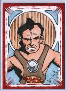 2012 Warlord of Mars Artist Bruce Gerlach 1 1 Original Art Sketch Card
