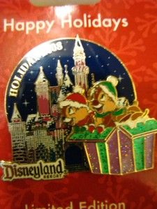 Disney Sleeping Beauty Castle Holiday Chip Dale Pin New
