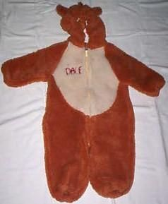 Disney Costume Chip Dale Chipmunk XXS 2 4 Child Toddler