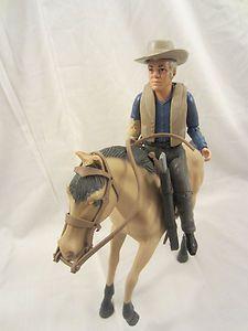 American Character Bonanza Ben Cartwright Action Figure Horse