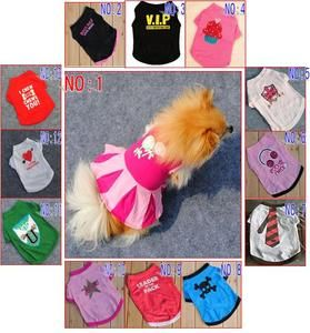Pet Dog Cat Clothes Clothing T Shirts T Shirt Summer Apparel Dog Vest