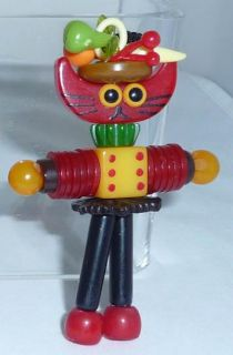 Bead Crib Toy Doll Carmen Cat Miranda Charm Necklace Pendant