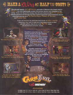 Midway CARNEVIL Dedicated Arcade Shooter Game   Both Gun Assemblies