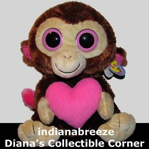 Casanova Ty Beanie Baby Boos Boos Valentine Monkey New