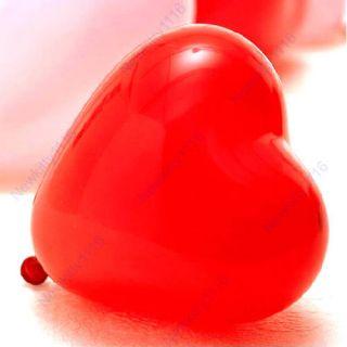 Lote 100 Globos Rojos Forma de Corazón Para Decorar Fiestas Amor