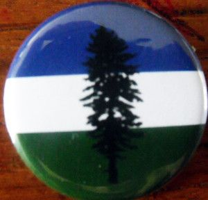 Cascadia Flag Pinback Button Badge 1 25