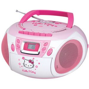 Hello Kitty CD Player Boombox Stereo Cassette Radio New