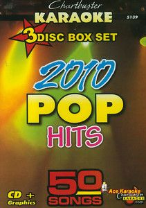 Chartbuster Karaoke CDG 3 Disc PACK5139 2010 Pop Hits