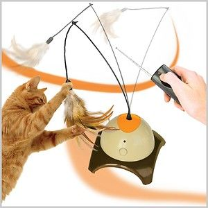 remote Controlled Cat Toy Feather Scratch Post Scratching Condo