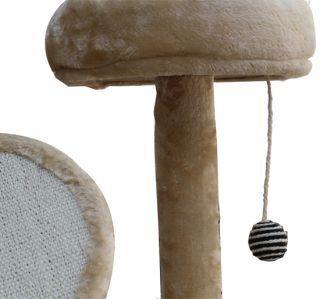 60 Cat Tree Condo Furniture Scratch Post Pet House   Cream