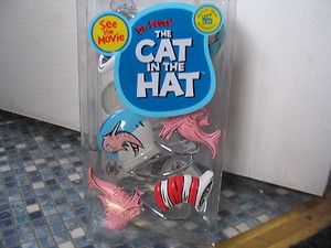 Dr Seuss Set Of 12 Shower Curtain Hooks Cat In The Hat Fish Brand New