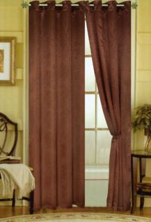 Caroline Luxury 55 x 84 Faux Silk Interlined Grommet Window Panel