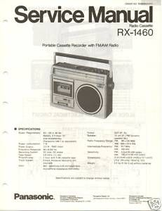 Original Service Manual Panasonic RX 1460 Radio Cass