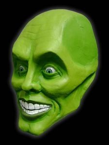 The Mask Jim Carrey Latex Mask Halloween Costume Prop