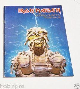 RARE 1984 85 Iron Maiden World Slavery Tour Conert Program Book Nice