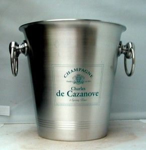 New French Aluminium Cazenove Champagne Ice Bucket Cooler,Unused