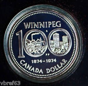 CANADA Silver Dollar Winnipeg Centennial Dollar Premium quality coin