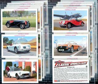 Tobacco Card Set Castella Classic Sports Cars Austin Lotus MG Cobra