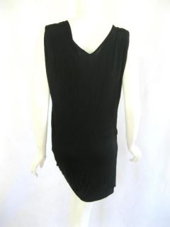 Flavio Castellani Womens Stone Black Dress 44 $255 New