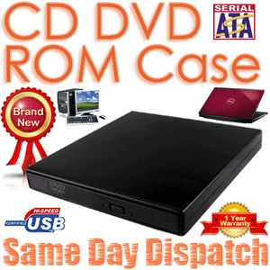 SATA to USB External Case for Laptop CD DVD ROM Drive