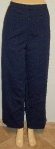 Daniels Navy Blue Elastic Stretchy Pants Plus 3X 22W 24W MSRP $50