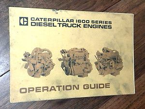 Caterpillar 1600 Series Diesel Truck Engines Operation Guide 1972 1973