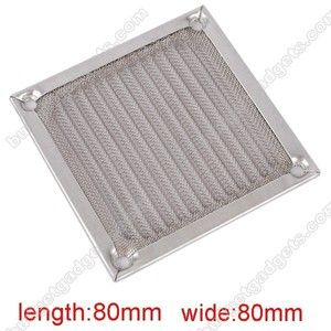 80mm Aluminum PC Case Cooler Fan Dustproof Filter Grill