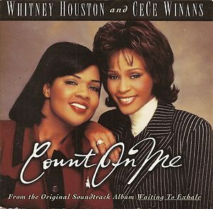 Whitney Houston Cece Winans Count on Me CD Single