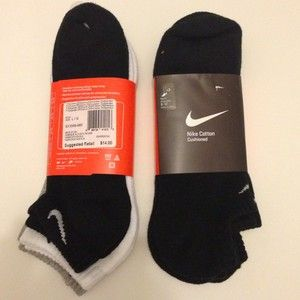 Pairs Of Authentic NEW Nike Mens Athletic No Show Socks 8 12