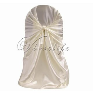 Satin Chair Cover for Wedding Party Banquet Event 1 New