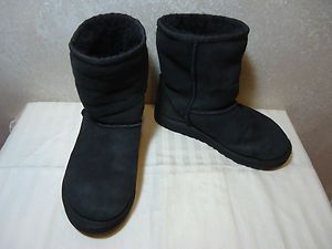 KIDS AUTHENTIC UGG S N 5251 CLASSIC SHORT BOOTS BLACK SIZE 1