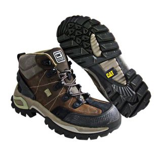 New Caterpillar Mens Interface Hi Dark Brown Boots US 9 5