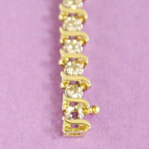 ct 14k diamond tennis bracelet 377