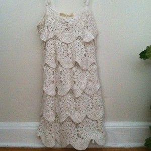 Lulus Crochet Mini Dress. Ruffled Lace Crochet Ivory Dress. Nastygal