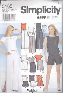 Simplicity 5165 Classic Pants Shorts Skirt Tops 4 10