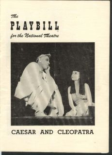 and Cleopatra Playbill 4/3/50 Cedric Hardwicke Lilli Palmer National