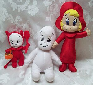 CASPER Friendly Ghost WENDY HALLOWEEN plush Harvey Toon Cartoons EUC