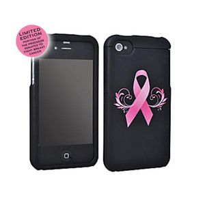 Breast Cancer Awareness Pink Ribbon iPhone 4 s 4 Hard Case by PureGear