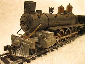 Unknown Maker HO Scale Steam Locomotive with With Tender Marked JFH