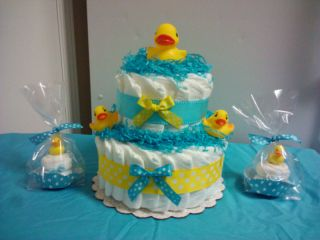 DUCK diaper cake baby shower centerpiece, decoration for boy