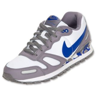 Nike Air Waffle Trainer Mens Casual Shoes White Char Grey Royal