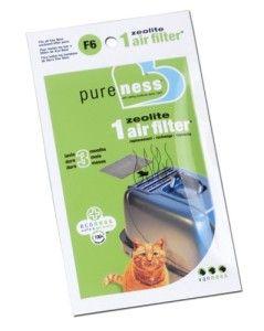 6pk Van Ness Cat Litter Pan Box Replacement Zeolite Air Filter CP6 CP7