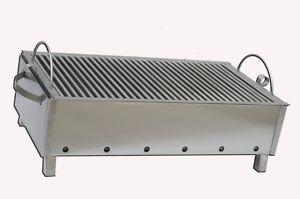 Stainless Steel Charcoal Grill Kebab BBQ Portable 12x24