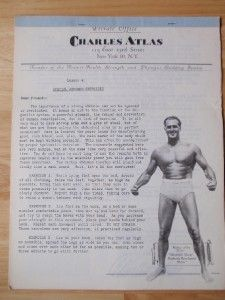 Lot (12) CHARLES ATLAS Bodybuilding muscle exercise workout courses