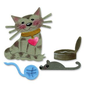 Sizzix Originals Die Cat and Cat Toys NIP